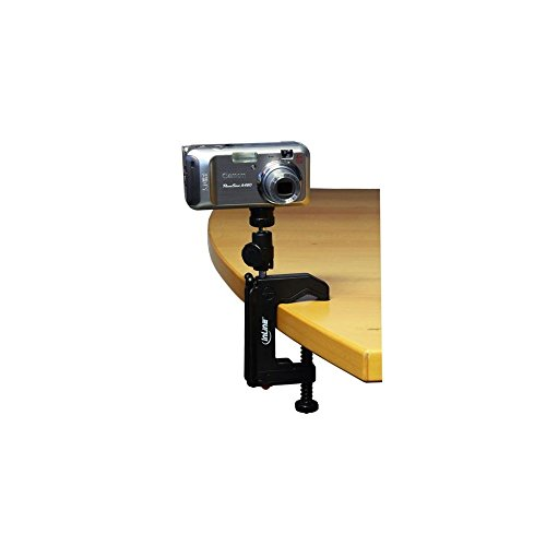 InLine 48009 Tisch-Stativ 190mm mit Schraubzwinge inkl. Kugelkopf schwarz