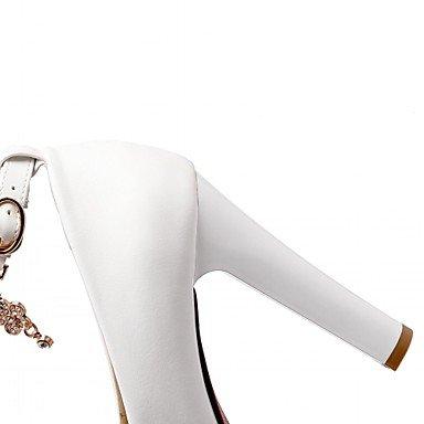 pwne Donna Tacchi Estate Autunno Novità Comfort Sintetico Pu In Pelle Di Brevetto Ufficio Matrimoni &Amp; Carriera Casual Walking Chunky Heel Lace-Upred Beige US9.5-10 / EU41 / UK7.5-8 / CN42