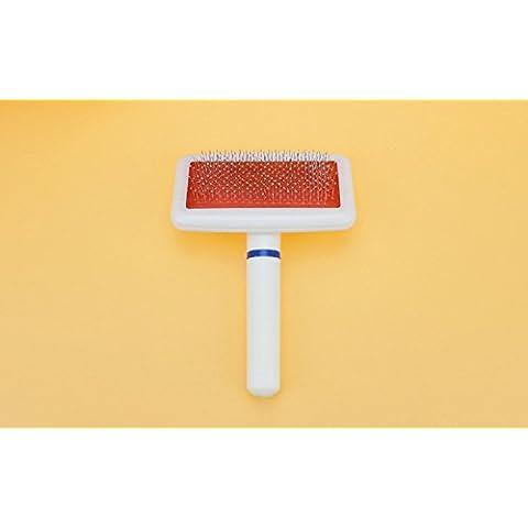 XJoel Ritaglio strumento di pulizia cani di animale domestico spazzola lisciante pettine Pet Grooming spargimento dei gatti dell'attrezzo massaggio u. scopino