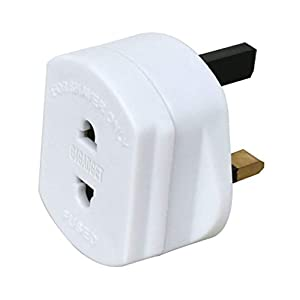 G4GADGET Heavy Duty UK 1A Electric Shaver Razor Adaptor Toothbrush Plug Socket Converter 2 To 3 Pin