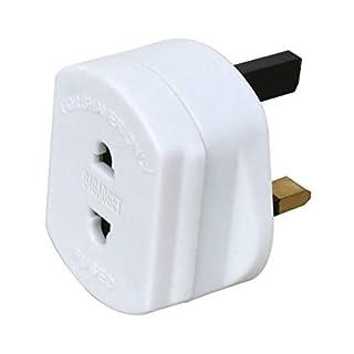 G4GADGET Heavy Duty UK 1A Electric Shaver Razor Adaptor Toothbrush Plug Socket Converter 2 To 3 Pin