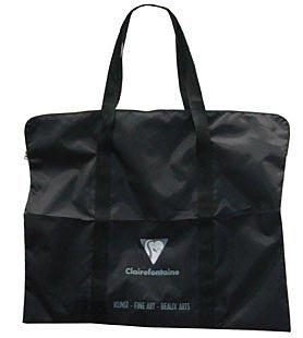 Zeichentasche 57x75 schwarz - Zeichenblock Tasche