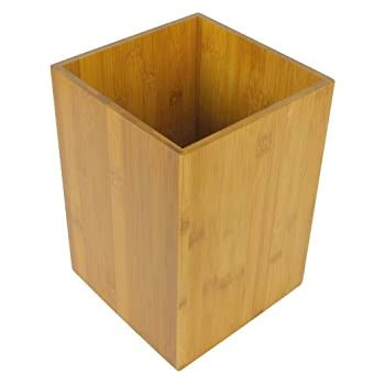 Poubelle en Bambou pour salle de bain , WC ou cuisine