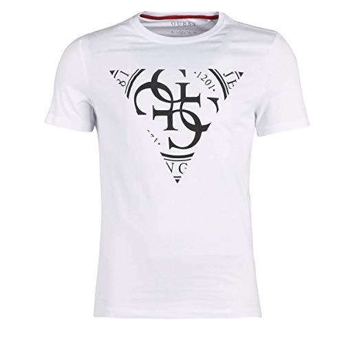 Guess Triangle Stamp T-Shirts & Poloshirts Herren Weiss - XXL - T-Shirts