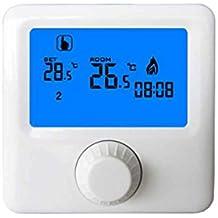 Pantalla LCD Termóstato de la caldera de gas empotrable semanal Habitación programable Termostato de calefacción Controlador