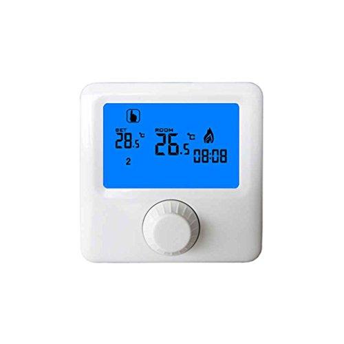 Lorsoul Pantalla LCD Caldera Mural de Gas Termostato, semanal Ambiente programable de...