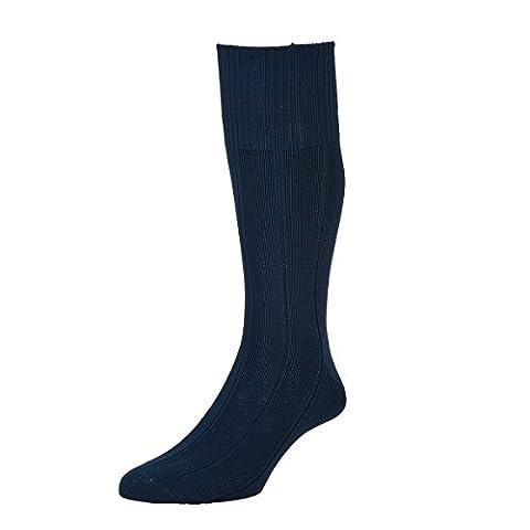 HJ Hall HJ1 Men's Chaussettes pour bottes de travail - 1 Paire - Bleu - Large