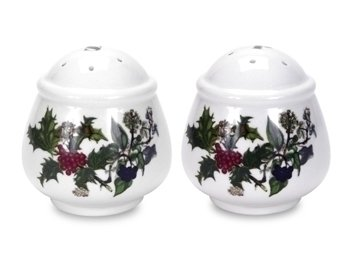 The Holly & Ivy Salt and Pepper Set, Multi-Colour, 2-Piece by Portmeirion Group