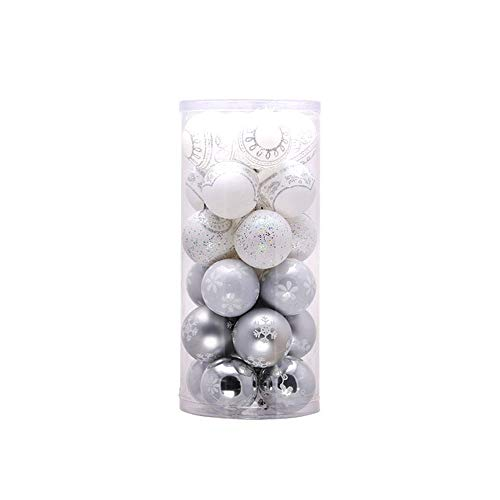 Yao 24PCS 6cm Christmas Tree Ball Baubles Party Hanging Ornament Decor Supplies
