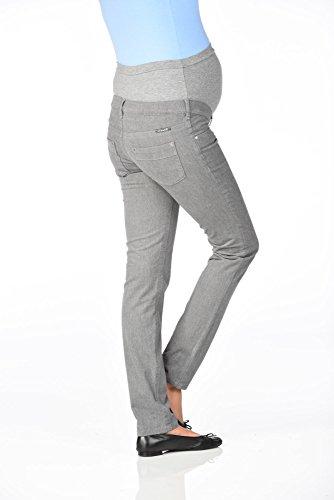Christoff Umstandshose Flanell-Optik - Straight Leg - 303-49-7 Mid Grey