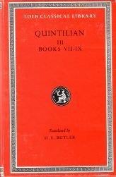 Institutiones Oratoriae: Bks.VII-IX v. 3 (Loeb Classical Library) by Quintilian (1986-08-06)