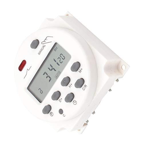 Lorsoul 12V / 24V / 110V / 220V Digital LCD-Anzeigezeit Schalter Wand Wöchentlicher programmierbaren elektronischen Timer - Digital-wand-schalter Timer