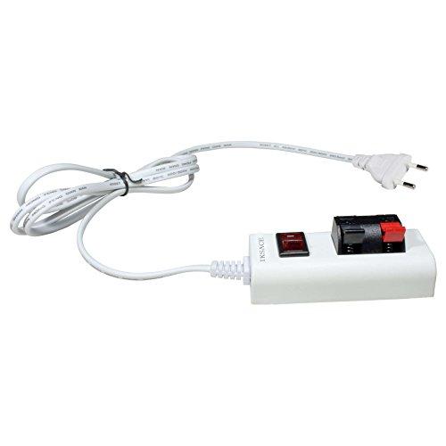 IKSACE LED-Test-Clip Zubehör LED-Treiber-Transformator mit Schalter für Streifenlicht Spot-Leuchten Down Light Deckenleuchte AC85-285V