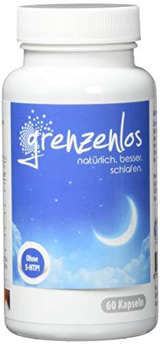 Baldrian-Komplex - GRENZENLOS®: 60 Kapseln mit extra Passionsblume, Zitronenmelisse, Lavendel, Bacopa monnieri (Brahmi), L-Tryptophan (Serotonin-Vorstufe), B3³ und B6² für Deine Psyche & Nervensystem