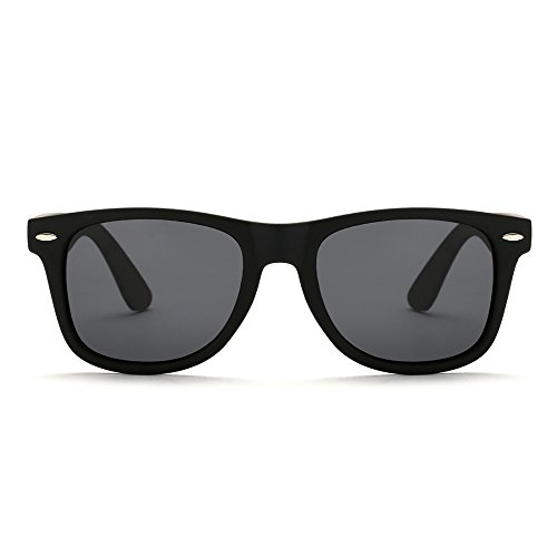 Eye-nak® Sonnenbrille Unisex Sonnenbrille klassische Design Retro Wayfarer Damen u. Herren (Schwarz)