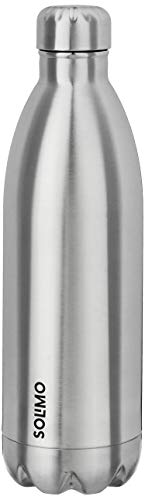 Amazon Brand - Solimo Double Walled Insulated Stainless Steel Flask...