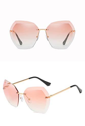 ZJWZ Europa und Amerika sonnenbrillenrahmen lose Marine Film Sonnenbrille Exquisite Trimm Sonnenbrille Männer und Frauen Sonnenschirm Spiegel,goldlightpowder