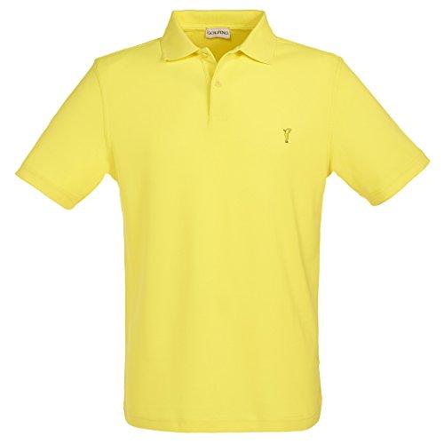 golfino-short-sleeve-plain-colour-golf-pique-with-moisture-management-yellow-m