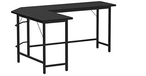 COSTWAY Computertisch L-Form, Eckschreibtisch, Schreibtisch PC-Tisch Computerschreibtisch Bürotisch Ecktisch Winkelschreibtisch, Farbwahl (schwarz)