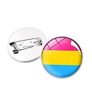 Aisoway Homosexuell Lesbian Pride Broooch Regenbogen-Revers Pin-Dekoration für Kleidung und Taschen