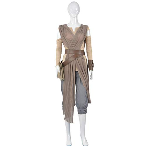 Cosplay Kostüm Benutzerdefinierte - nihiug Star Wars Kleidung Lei Cosplay Kostüm voller Satz weiblichen Anime Cos benutzerdefinierte Halloween-Kostüm,Grey-3XL(183to187)