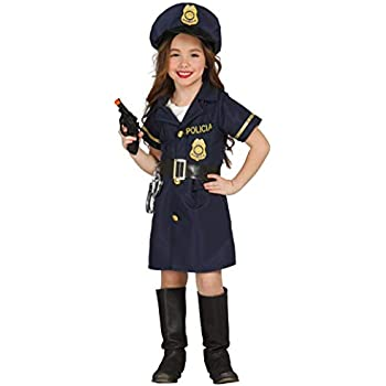 Girls Police Lady Uniform Job Occupation Fancy Dress Costume Outfit 3-12 years