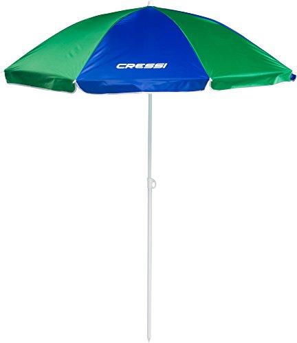 Cressi Umbrella Beach Sonnenschirm, Blau/Grün, 160 cm