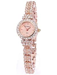 RU & UR Hot Blast Reloj Fancy Ladies Diamond oro rosa reloj de pulsera, Cara 238301