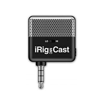 IK Multimedia iRig microfono da Podcast accessorio per iPhone/iPod Touch/iPad/Mac - Nero