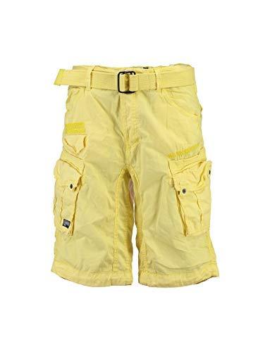 Pantalones cortos amarillos estilo cargo