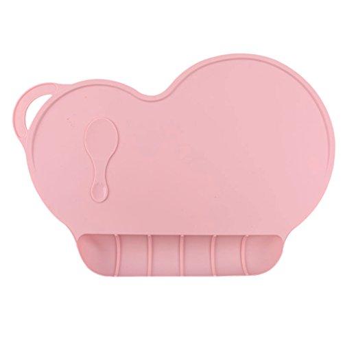LQZ(TM) Silikonmatte Platzdeckchen Tischunterlage Silikon Tischset rutschfest für Baby und Kinder - BPA frei, pink