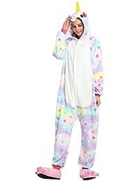 Youson Girl® Pijamas de Una Pieza, Unisex Cálido Pijamas para Adultos Cosplay Animales de Vestuario Ropa de Dormir Halloween y Navidad