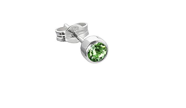 NKlaus 5039 Boucles doreilles cr/éoles en argent 925 avec pierres pr/écieuses celtiques 14 mm