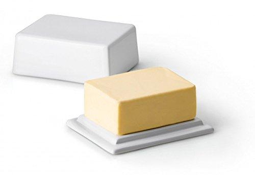 Continenta Beurrier en céramique, Beurrier pour 250 g de Beurre, Taille : 12 x 10 x 6 cm