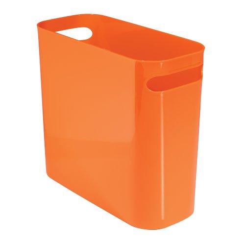 InterDesign Una Papelera de reciclaje con asas, cubo de basura de plástico, papelera de oficina, cocina...