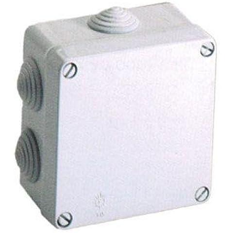 Solera 715-Scatola impermeabile, IP55 conos. IK 07. 100 x 100 x 55,7 coni per tubi Ø 25 massimo (25M).: Grigio - 07 Tubo