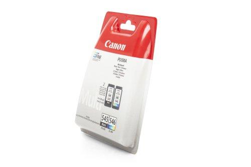 Preisvergleich Produktbild Original Tinte passend für Canon Pixma MG 2400 Series Canon PG-545 CL 546 8287B005 - 2x Premium Drucker-Patrone - Schwarz, Cyan, Magenta, Gelb - 1x180 & 1x180 Seiten - 2 x 8 ml