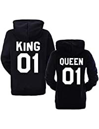 King Queen Pull Couple Sweat à Capuche King and Queen Hooide Sweat-Shirt à  Capuche ff6a9dd12137