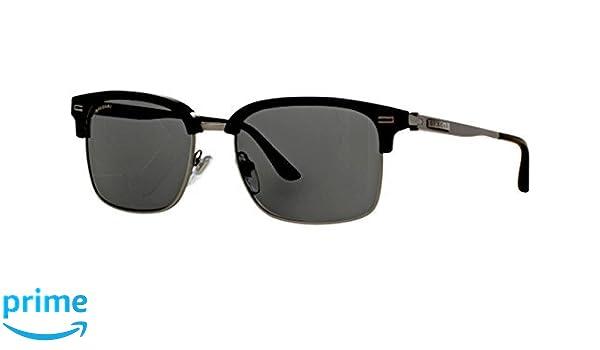 Bvlgari 7026, Occhiali da Sole Unisex-Adulto, Multicolore (Black Sand/Matte Gunmetal), 54