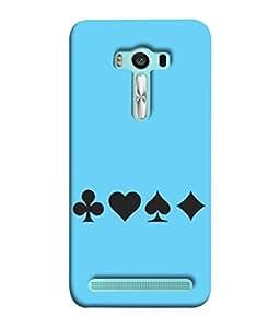 PrintVisa Designer Back Case Cover for Asus Zenfone 2 Laser ZE500KL (5 inches) (Game Play Casino UNO Ace Design Graphic Plastic)
