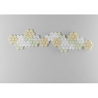 Panelados - Pack Natura teselados decorativos de pared (Mod. ASPAS). Motivos geométricos. Composición DIY. Autoadhesivo. 25 piezas.