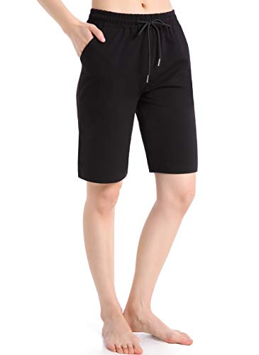 Ferrieswheel Story Bermuda Shorts Damen Sommer Hose Kuz Jogginghose mit Taschen Dünne Sport Fitness