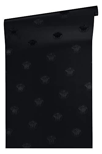 Versace wallpaper Vliestapete Vanitas Luxustapete  10,05 m x 0,70 m schwarz Made in Germany 348622 34862-2