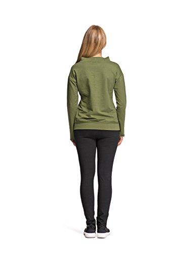 Makadamia - Sweat-shirt - Manches Longues - Femme Vert Kaki Vert - Kaki