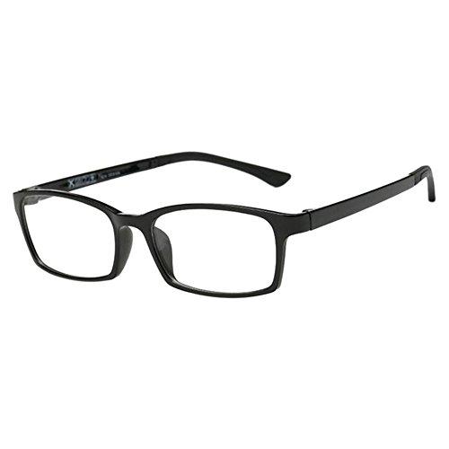 Zhuhaixmy Ultraleicht TR90 Kurzsichtigkeit Myopia Eyewear Kurzsicht Brille Kurzsichtig Brille Eyewear -1.0~-6.0 Schwarz Farbe (Diese sind nicht Lesen Brille)