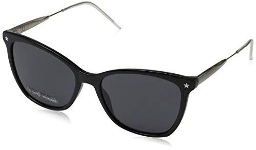 Tommy hilfiger th 1647/s, occhiali da sole donna, black, 54