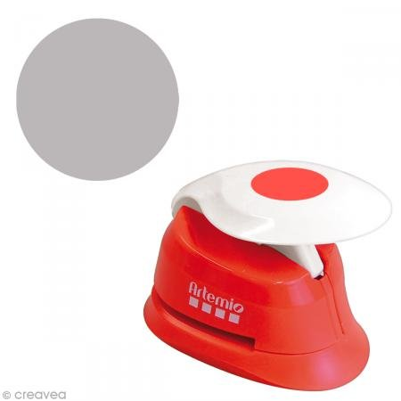 Artemio 2,5 cm Perforadora círculos Eva, Rojo