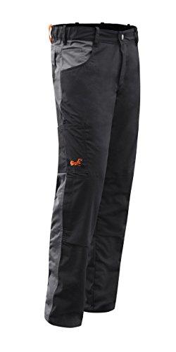 Pantaloni da Lavoro Berlin PRO Tasca per Ginocchiere Cerniera Lampo YKK e Bottone YKK KERMEN Made EU Nero Grigio 46