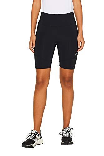 ESPRIT Sports Damen Shorts Edry sl Sportshorts, Schwarz (Black 001), W(Herstellergröße: L)