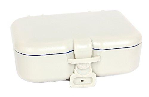 FreshGadgetz Set 1 Zahnprothesen Aufbewahrungshülle mit Spiegel & Bürste – Behälter Bad fürs Einweichen der Prothesen, Halterungen & anderen Zahngeräte